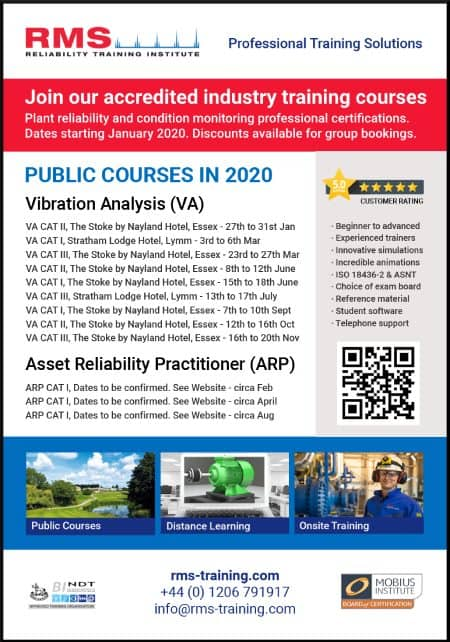 RMS Training Course Schedule 2020